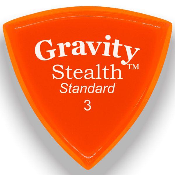 Gravity Picks GSSS3P Stealth 3.0mm Standard Polished Orange