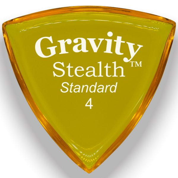 Gravity Picks GSSS4P Stealth 4.0mm Standard Polished Yellow