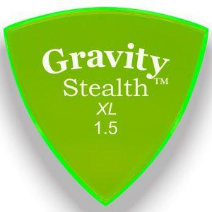 Gravity Picks GSSX15P Stealth XL 1.5mm Polished Fl. Green