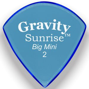 Gravity Picks GSUB2P Sunrise Big Mini 2.0mm Polished Blue