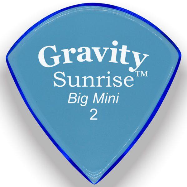 Gravity Picks GSUB2P Sunrise Big Mini 2.0mm Polished Blue