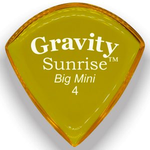 Gravity Picks GSUB4P Sunrise Big Mini 4.0mm Polished Yellow