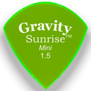 Gravity Picks GSUM15P Sunrise Mini 1.5mm Polished Fluorescent Green