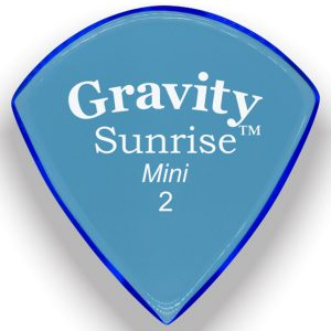 Gravity Picks GSUM2P Sunrise Mini 2.0mm Polished Blue
