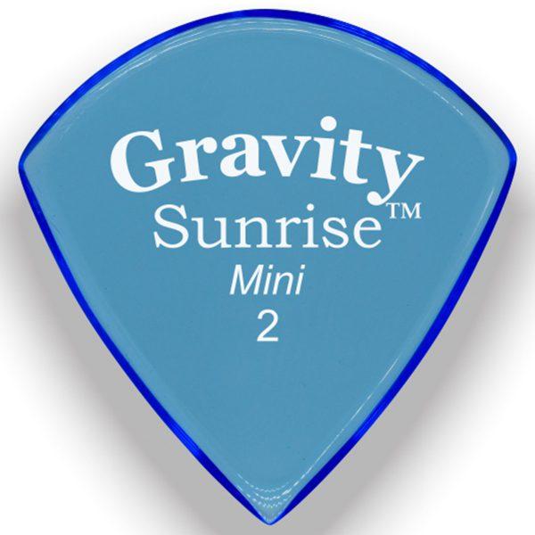 Gravity Picks GSUM2P Sunrise Mini 2.0mm Polished Blue