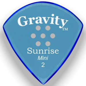 Gravity Picks GSUM2PM Sunrise Mini 2.0mm Polished with Multi-Hole Grip Blue