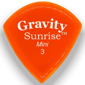 Gravity Picks GSUM3P Sunrise Mini 3.0mm Polished Orange