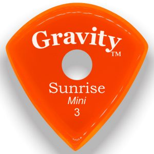 Gravity Picks GSUM3PR Sunrise Mini 3.0mm Polished with Round Grip Hole Orange