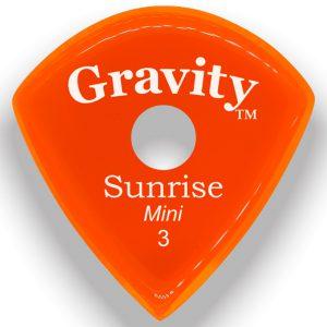 Gravity Picks GSUM3PR Sunrise Mini 3.0mm Polished with Round Grip Hole Orange