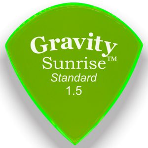Gravity Picks GSUS15P Sunrise Standard 1.5mm Polished Fl. Green