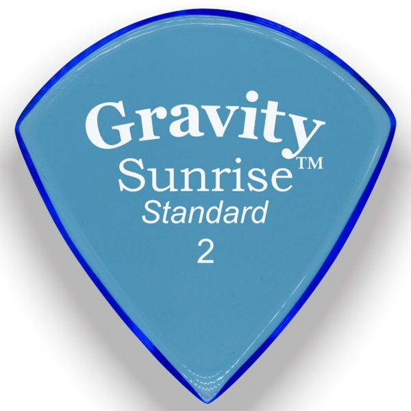 Gravity Picks GSUS2M Sunrise Standard 2.0mm Master Blue