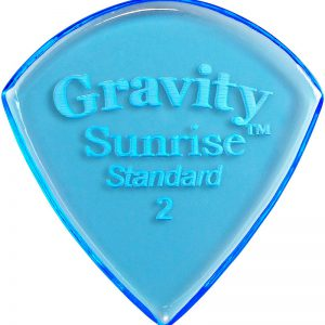 Gravity Picks GSUS2P Sunrise Standard 2.0mm Polished Blue