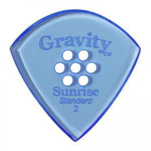 Gravity Picks GSUS2PM Sunrise Standard 2.0mm Polished w/ Multi-Hole Blue