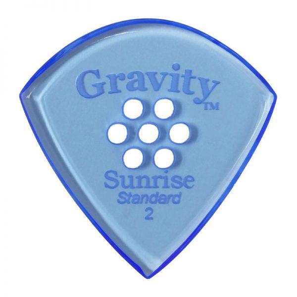Gravity Picks GSUS2PM Sunrise Standard 2.0mm Polished w/ Multi-Hole Blue
