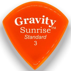 Gravity Picks GSUS3P Sunrise Standard 3.0mm Polished Orange