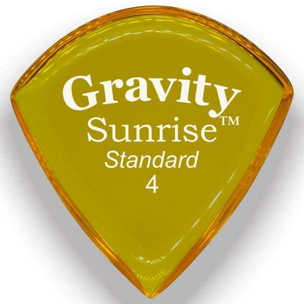 Gravity Picks GSUS4P Sunrise 4.0mm Standard Polished Yellow