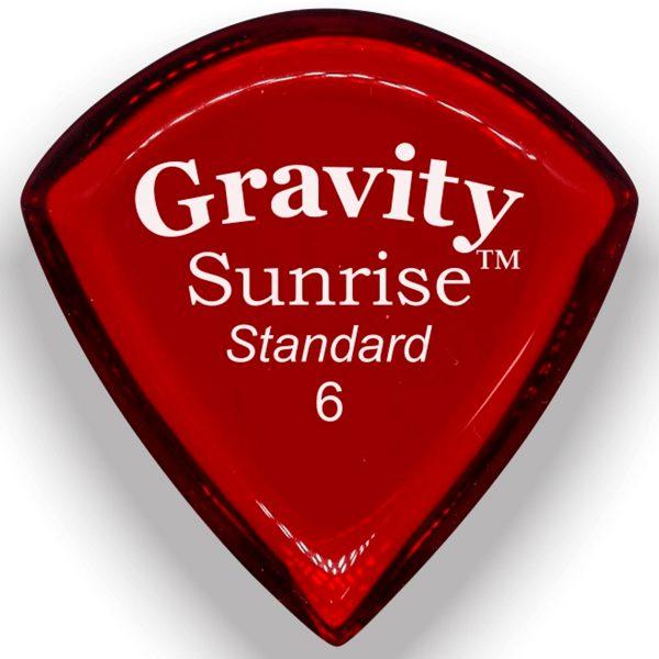 Gravity Picks GSUS6P Sunrise Standard 6.0mm Polished Red
