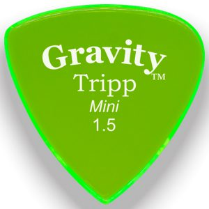 Gravity Picks GTRM15M Tripp 1.5mm Mini (Jazz) Master Green