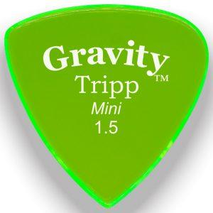 Gravity Picks GTRM15P Tripp 1.5mm Mini (Jazz) Polished Green