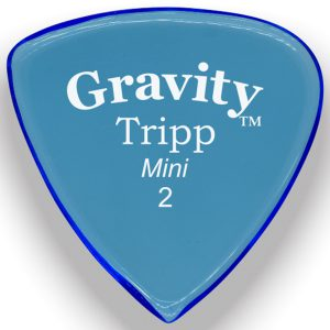 Gravity Picks GTRM2P Tripp 2.0mm Mini (Jazz) Polished Blue