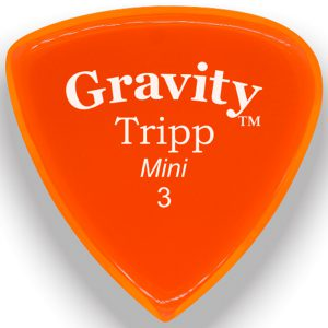 Gravity Picks GTRM3P Tripp 3.0mm Mini (Jazz) Polished Orange