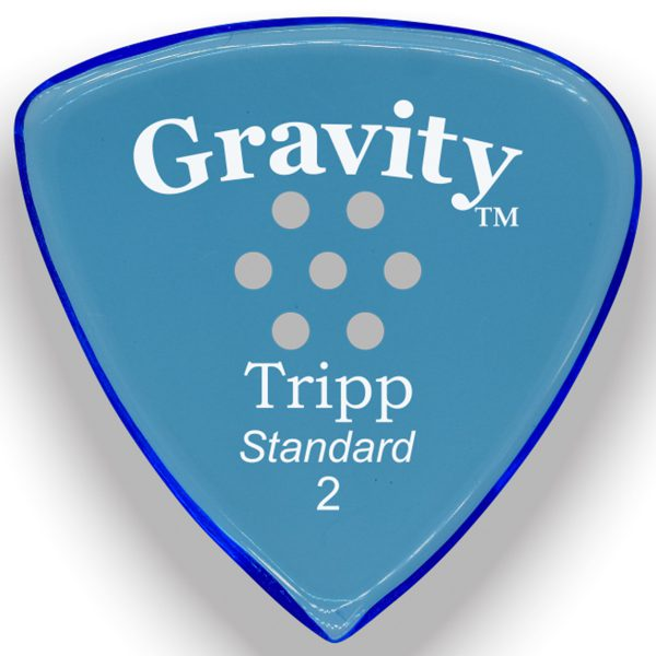 Gravity Picks GTRS2PM Tripp Standard 2.0mm Polished w/ Multi-Hole Blue