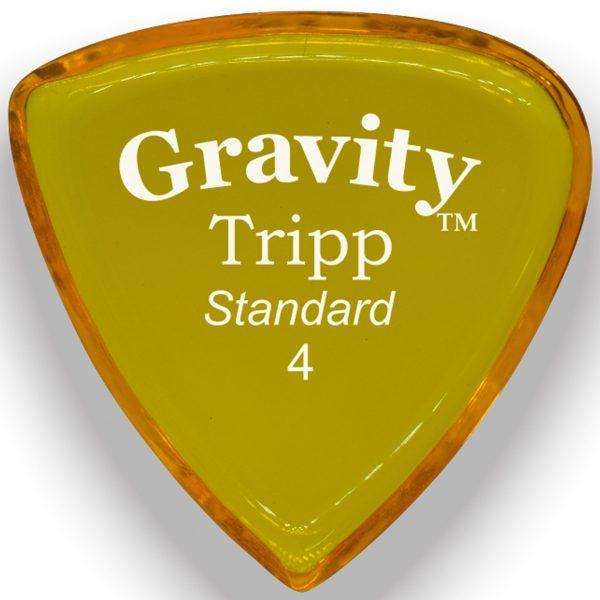 Gravity Picks GTRS4P Tripp 4.0mm Standard Polished Yellow