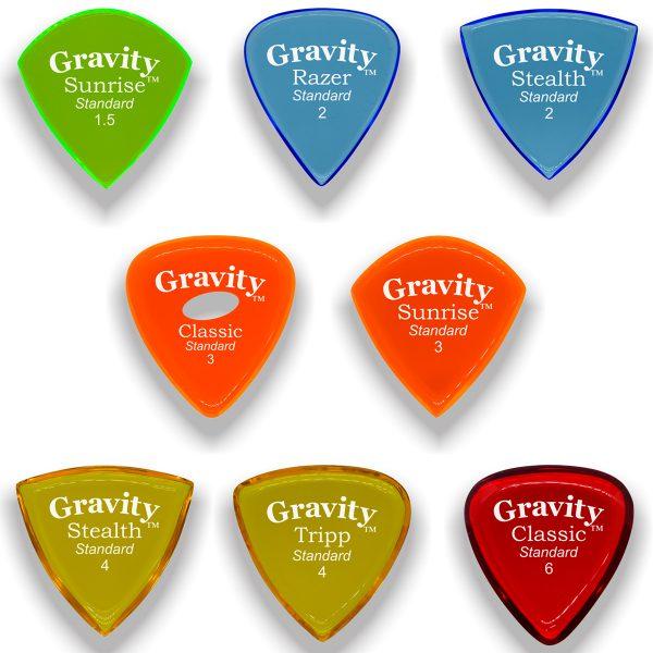 Gravity Picks GVARHVY Variety Pack Thick