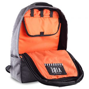 Gruv Gear VIBE Backpack (Grey – Orange)