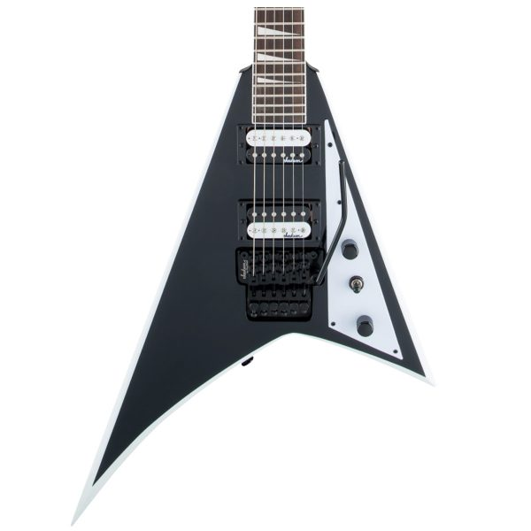 Jackson JS32 RR, AH FB - Black with White Bevels