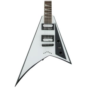 Jackson JS32T RR, AH FB - White with Black Bevels