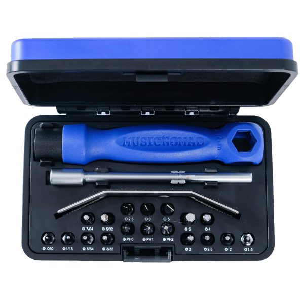 Music Nomad MN229 - Premium Guitar Tech Screwdriver and Wrench Set