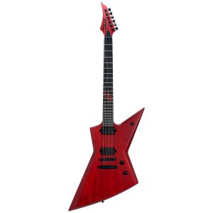 Solar Guitars E2.6TBR Trans Blood Red Matte Swamp Ash con Funda