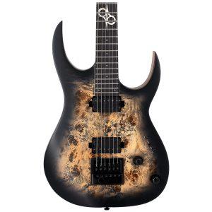 Solar Guitars S1.6PB-27 Poplar Burst Matte Mahogany + Poplar Burl