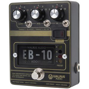 Walrus EB-10 EQ/Boost/Preamp Matte Black
