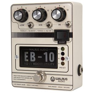 Walrus EB-10 EQ/Boost/Preamp Cream