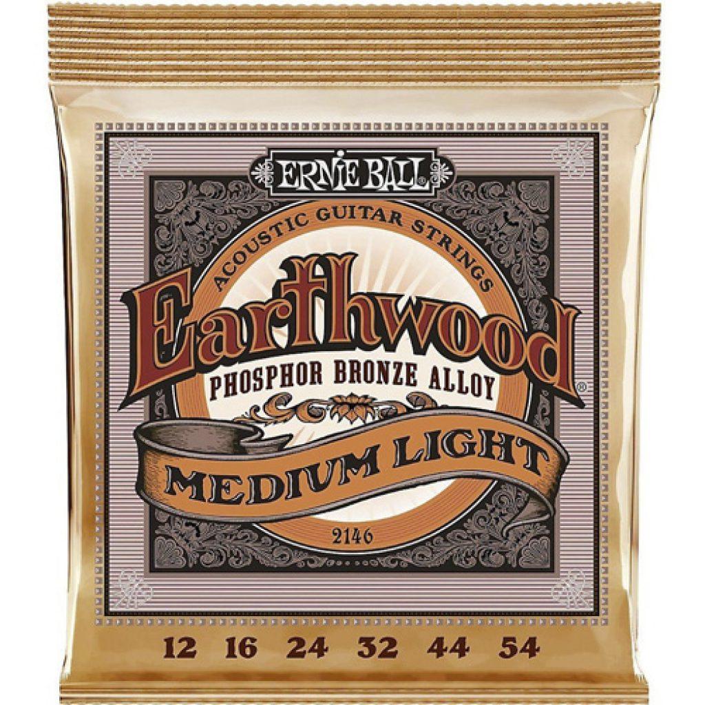 Ernie Ball 2146 Earthwood Phosphor Bronze Acoustic Medium Light 12-54