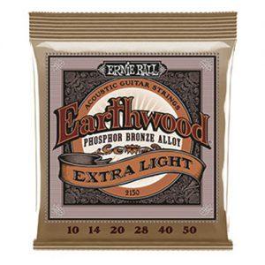 Ernie Ball 2150 Earthwood Phosphor Bronze Acoustic Extra Light 10-50