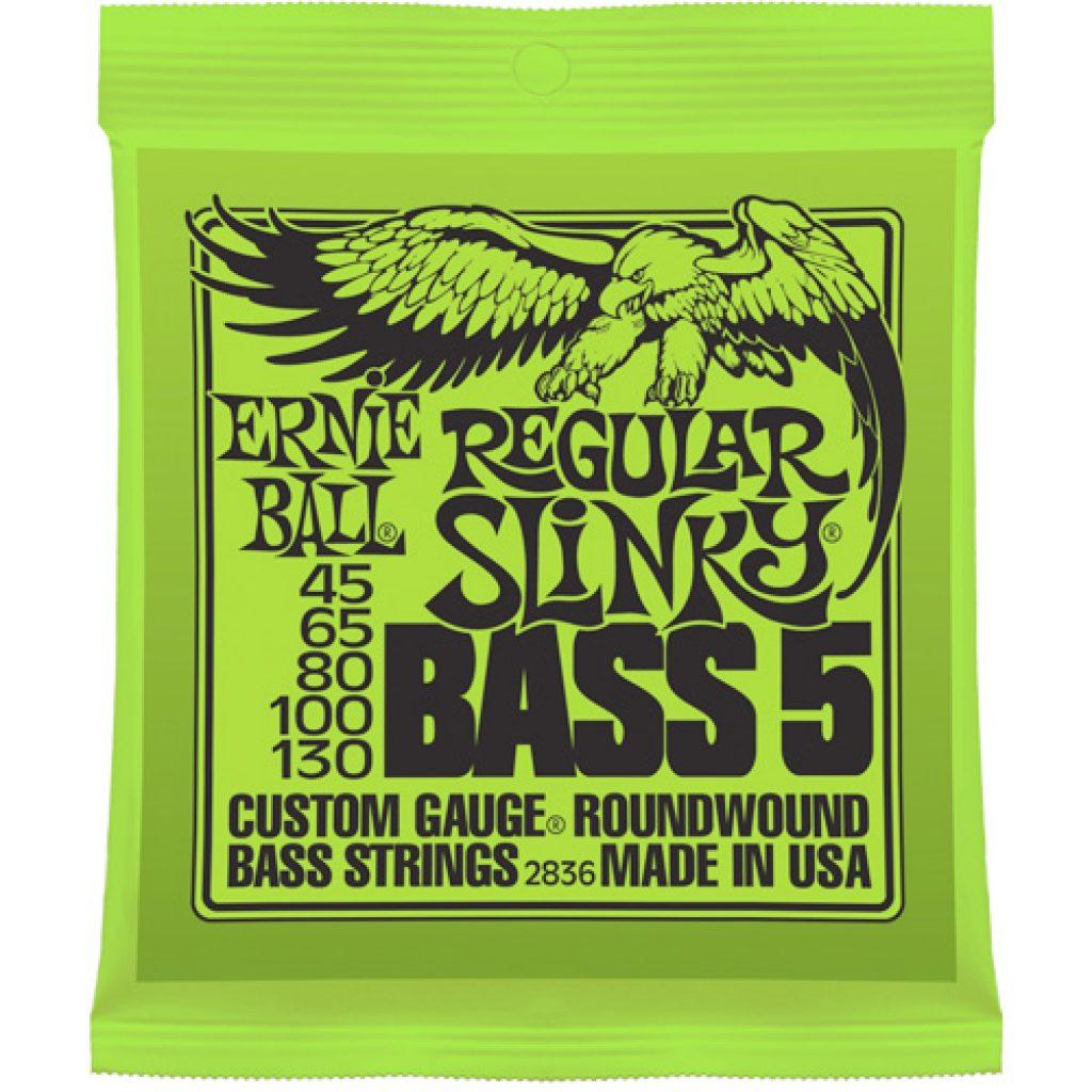 Ernie Ball 2836 Nickel Wound Bass Regular Slinky 45-130