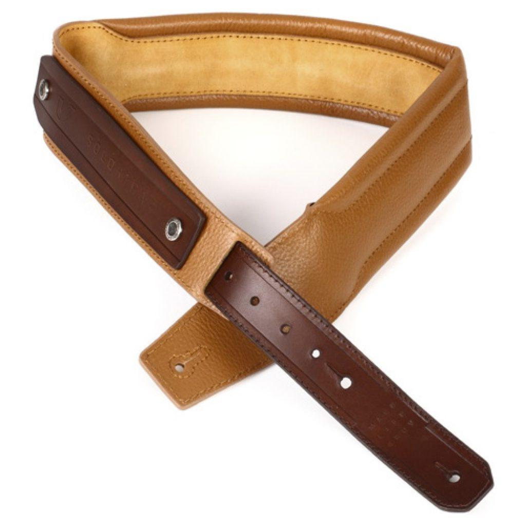 Gruv Gear SoloStrap Premium Leather Guitar/Bass Strap (Tan)