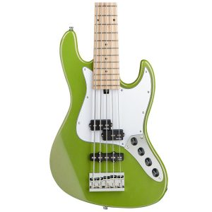 Sadowsky MetroExpress 21-Fret Hybrid P/J Bass, Maple Fingerboard, 5-String – Solid Sage Green Metallic High Polish