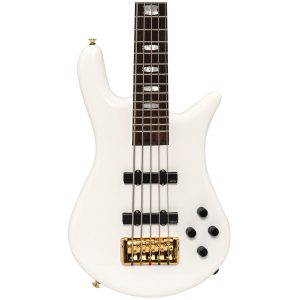 Spector Euro 5 Classic Solid White Gloss, Weight Relief, Gold Hardware – EMG J/J Pickups & BT Circuit – 34″ Scale