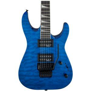 Jackson JS32Q DKA Dinky Serie JS, Amaranth Fingerboard, Transparent Blue