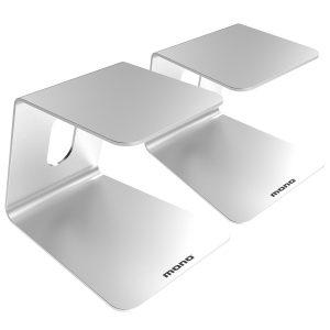 Mono Studio Monitor Stands, Silver